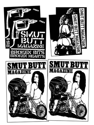 SMUT BUTT STICKER PACK #10 by Gorgeous George
