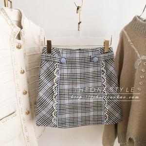♡チェックパールスカート