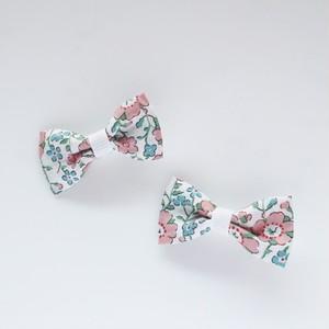 ☆ベビ~キッズ用☆ リバティ セランダイン(ピンク) ヘアクリップ 2個セット