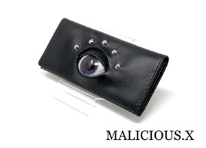 eye wallet / dark blue × violet