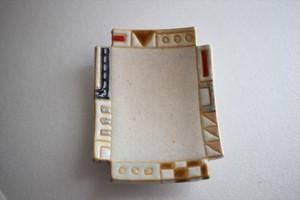 古川真紀子(撫菜花工藝)|幾何学模様角豆皿⑤