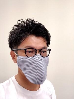 【LLサイズ】メガネマスク ライトブルーストライプ