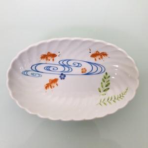三匹の金魚小皿