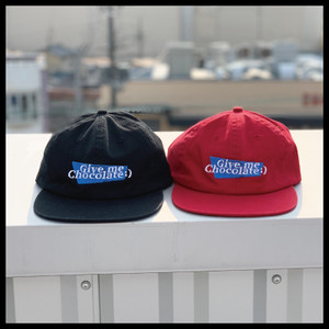 Give me chocolate Cap【Black/Red】