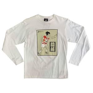 【YBC】Kabuki Rugby Long Sleeve Tee White