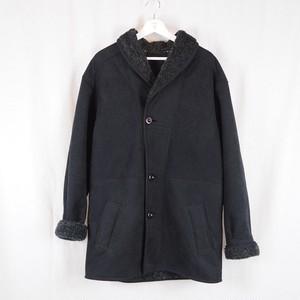 Shawl-Coller Mouton Coat