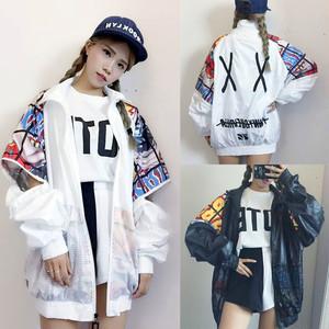 【アウター】ストリート系切り替えファッションプリントジャケット42219751
