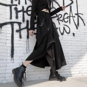 【ボトムス】超人気商品ストリート系レトロ金属飾り無地スカート27040193