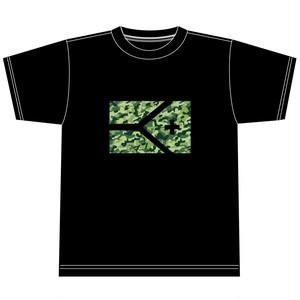 KYUS迷彩フラッグ 半袖ドライメッシュTシャツ
