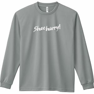 SHOEHURRY! DRY LONG T-SHIRTS|ドライロングTシャツ(グレー/ホワイト)