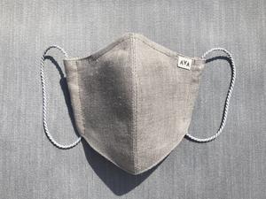 灰色のヘンプマスク