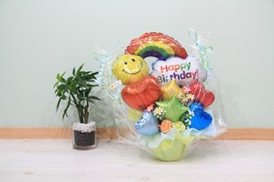 お誕生日のお祝いに卓上バルーンギフトG(バルーンアレンジ) 送料込み 引き取りの場合5,400円