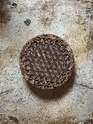 iiai Flower of Life Wooden Board 神聖幾何学ボード|小