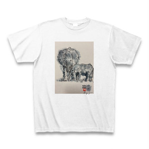 Keperipe 2020 summer T shirt『Elephant family』