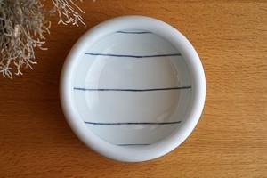 砥部焼/6寸玉縁鉢/ヨコセン/梅乃瀬窯