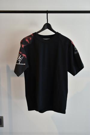 masao shimizu 再構築Tシャツ Black