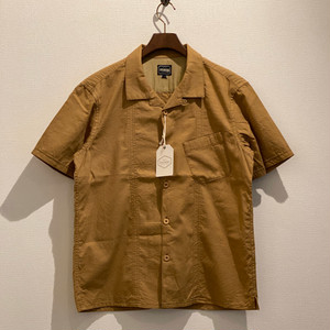 OPEN COLLAR TACC SS SHIRTS (YELLOW BEIGE) / LOST CONTROL