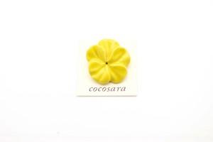 有田焼 ブローチ flower(M)黄