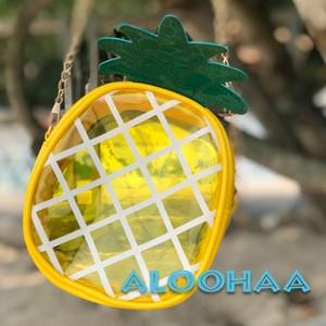 パイナップル型 クリアショルダーバッグ #99-014-CT
