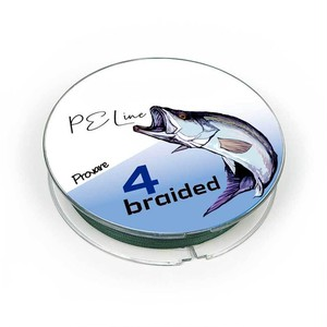 【Provare】PEライン 0.4号 0.6号 0.8号 1号 1.5号 2号 3号 4号  300m 4本編み 日本製ダイニーマ  釣糸 モスグリーン