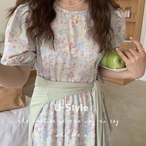 【送料無料】 flower dress  ・全3色