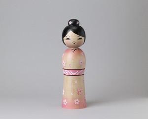 着流し・春  | 阿保こけしや 阿保正文工人  / Tsugaru style kokeshi doll, made by Masafumi Abo
