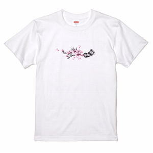 Cherry blossom paint Tee 桜絵の具 Tシャツ