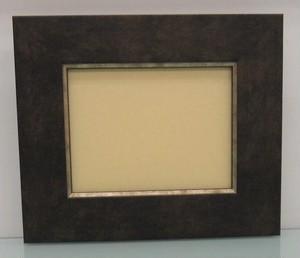キャンバス寸法130mm×100mm×20mmが入る額縁16-3054茶額縁寸法135mm×105mm窓枠寸法121mm×91mmアクリル/エコスペース付き/箱付き完品
