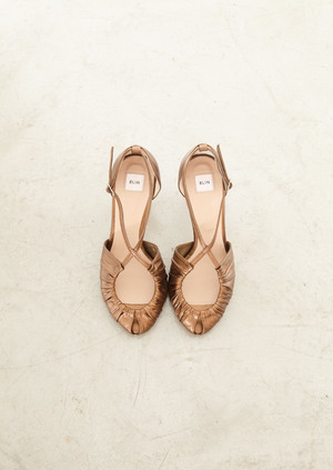 Gathered peep toe