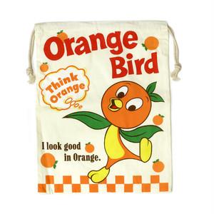 【即納】巾着袋 アメリカンロゴ Orange Bird オレンジバード z-037-orange
