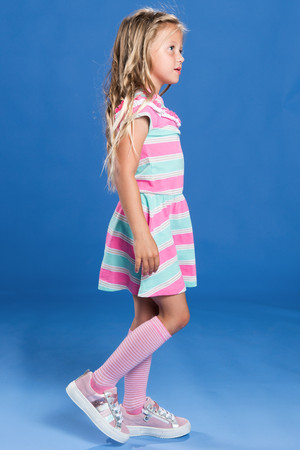 Girls Colorful border Dress