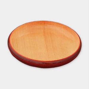 豆皿 小(縁型)紅ナチュラル