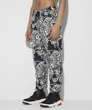 Collage Pattern Wide Pants