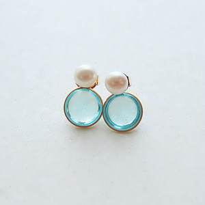 2way  pearl + glass - aqua blue