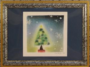 クリスマス パステル画 手描き No.0115