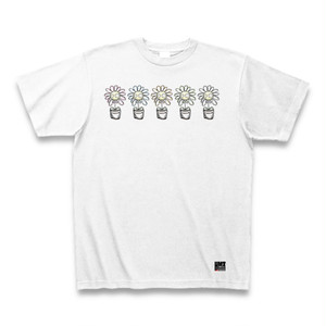 5色のお花 Tシャツ