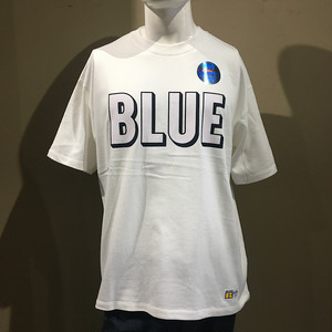 RUSSELL・BLUEBLUE 3D ロゴ プリント Tシャツ WHITE