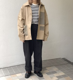 frnc. - コットンツイルシャツJKT - beige