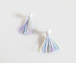 2WAYピアス pastel pearl tassel_ball