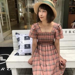 【即納】チェックワンピース