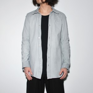 Leather Spiral Shirt 〈Grey〉