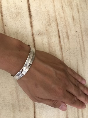 WHITE EAGLE FEATHER BANGLE