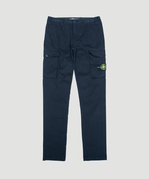 Stone Island  Moleskin Cargo Pants Black 711530810
