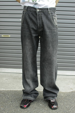 Switch Pattern Denim Pants