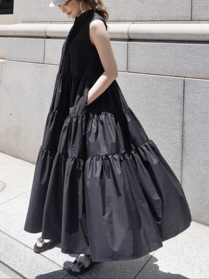 pin tuck tiered onepiece / black  7/29 21:00 ~ 再販 (即納)