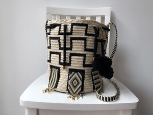 【Pre-order】Wayuu bag (ワユーバッグ) Luxe Line With Bead Art A
