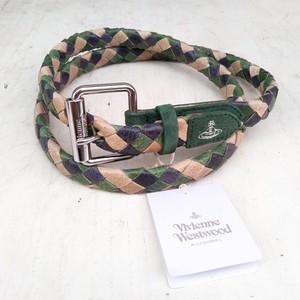 新品/VW/ヴィヴィアンウエストウッドVivienne Westwood/豚革/レザー/メッシュベルト/O0912YV5/
