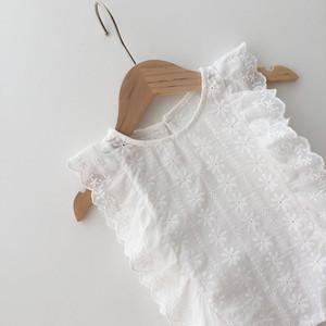 【夏物SALE】20%off【即納】ホワイトブラウス シャツ SS 春夏 韓国子供服