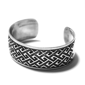 Vintage Sterling Silver Mexican Modern Bangle