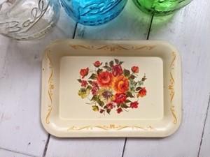 Vintage floral Tin Plate